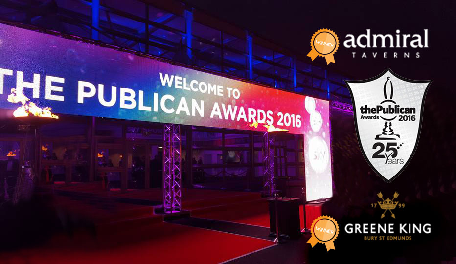 Publican Awards entrance - Greeneking and Admiral win!
